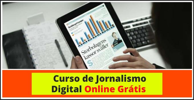 curso de Jornalismo Digital Online Gratis